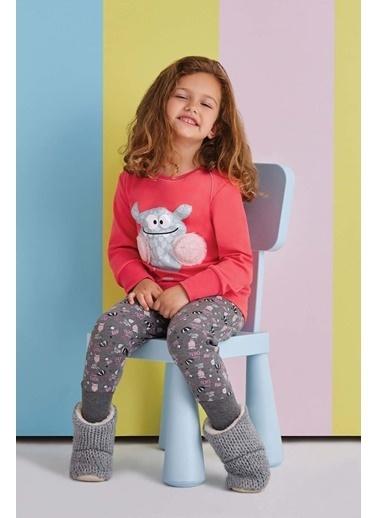 Roly Poly Rolypoly Boo Kız Çocuk Pijama Takımı Nar Çiçeği Kırmızı